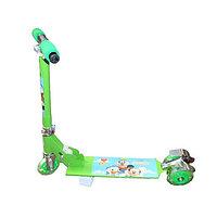 Самокат детский(трехколесный)зеленый