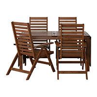 Стол+4 кресла, д/сада, коричневая морилка ЭПЛАРО