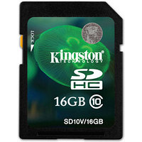 Карта памяти Secure Digital Kingsons 16Gb, SD10V/16GB, SD3.0 Class 10