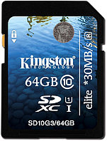 Карта памяти Secure Digital Kingson SD10G3/64GB 64GB SDHC Class 10 Flash Card G3