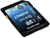 Карта памяти Secure Digital Kingson SD10G3/16Gb, 16Gb SDHC Class 10 Flash Card G3