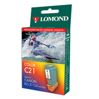 BCI-21 color Lomond for Canon BJC-2000/ 2100/4000/4100/4200/4550/MultiPass C2500 (L0202918)