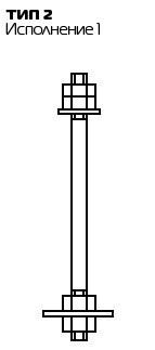 Болт 2.1М16х350 ГОСТ 24379.1-2012
