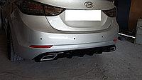 Диффузор на задний бампер Hyundai Elantra 2014+, фото 1