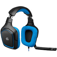 Наушники Logitech G430 981-000537 Surround Sound Gaming, проводные, USB/2xmini jack 3.5 mm, Black