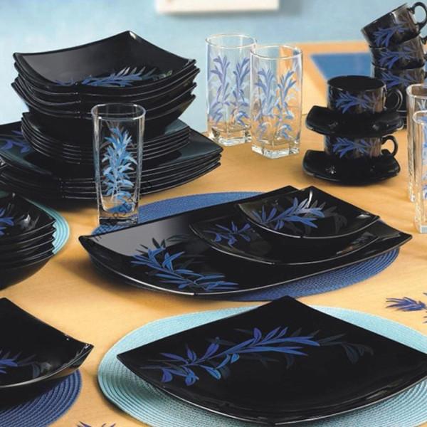 Столовый сервиз Luminarc Blue Black Palm 44 предмета