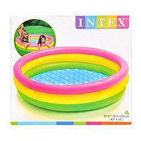 Надувной детский бассейн Intex  (114*25 см.)