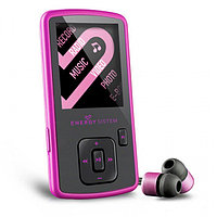 MP4 плеер Energy Sistem Slim 3 4Gb  MPEG4 (XVID в AVI с аудио MP2), MP3 / WMA / музыка WAV.  JPG / картины BMP, Pink Glow
