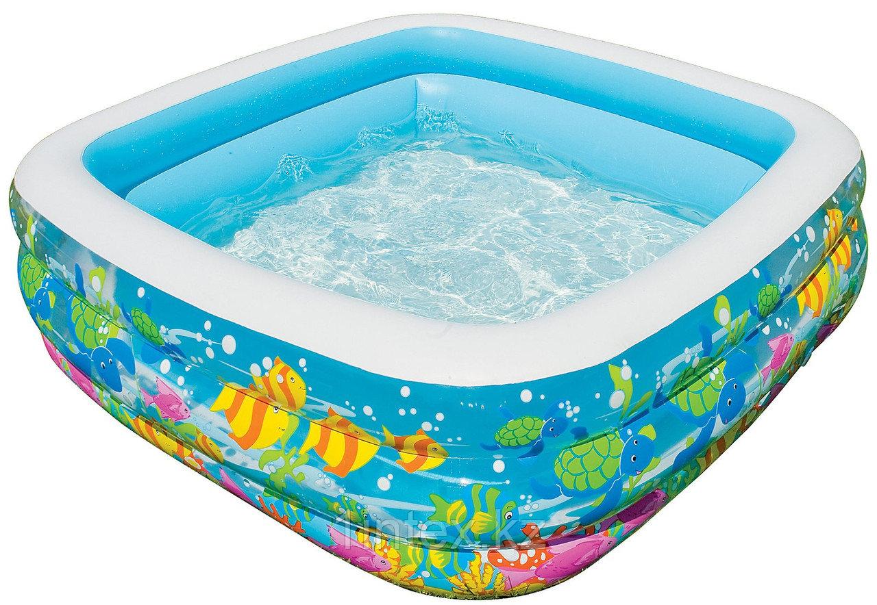 Детский надувной бассейн Intex «Аквариум» квадратный