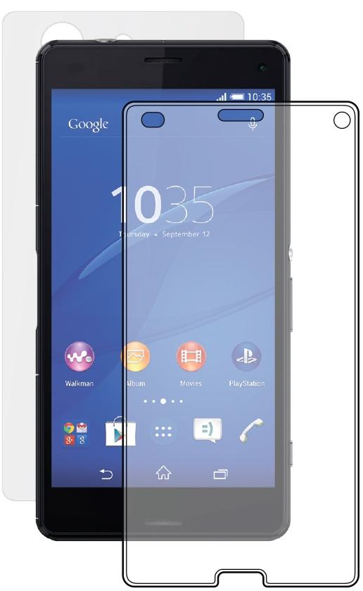 Двухстороннее противоударное защитное стекло Crystal на Sony Xperia Z5 compact