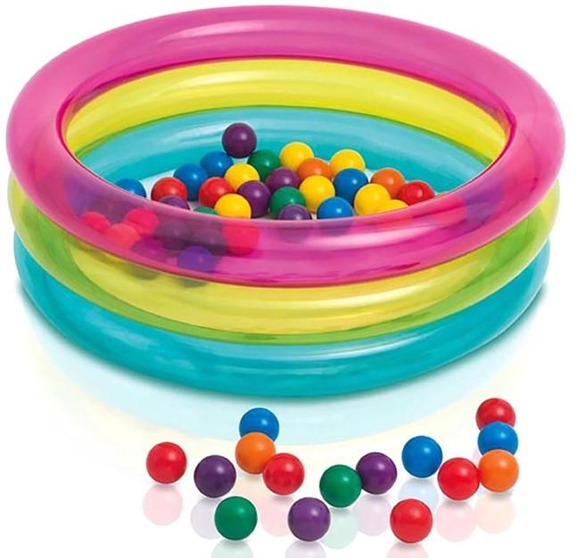 Бассейн детский надувной с шариками (50 шт.), от 1 до 3 лет