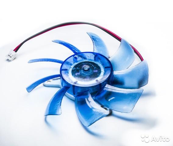Вентилятор для видеокарты, диаметр 74 (75) мм