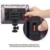Ультра тонкий Накамерный LED прожектор LUX-22+ аккумулятор и зарядное уст., фото 2