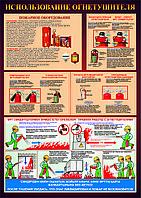 """Плакат """"Использование огнетушителей"""""""