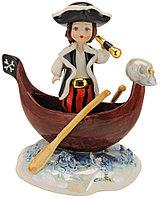 Статуэтка Пират в лодке. Италия, ручная работа, керамика