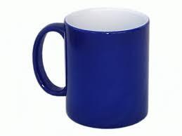 Кружка для сублимации  «хамелеон», синяя матовая