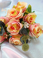 """Букет """"Fiesta Bubbles rose"""" (желто-розовый) искусственный, фото 1"""