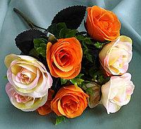 """Букет """"Fiesta Bubbles rose"""" комбинированный (кремовые,оранжевые) искусственный, фото 1"""