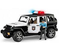 Bruder Игрушечный Полицейский Внедорожник Jeep Wrangler Unlimited Rubicon с фигуркой (Брудер)