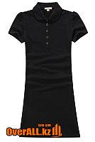 Платье поло черное