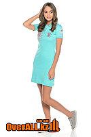 Платье поло голубое, фото 1