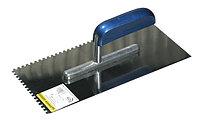 """Гладилка STAYER """"PROFI"""" нержавеющая с деревянной ручкой, зубчатая, 8х8мм, 0802-08"""
