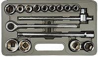 """Набор STAYER Автомобильный инструмент """"STANDARD"""" хромированное покрытие, 16 предметов"""