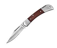 Нож STAYER складной с деревянными вставками, средний