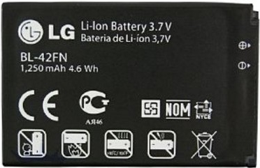 Заводской аккумулятор для LG Optimus P350 (BL-42FN, 1250mAh)
