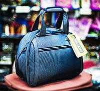 """Женская сумка-саквояж """"POLO KING"""", 40х18х30см (светло-серая)"""