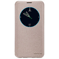 Чехол Nillkin Sparkle leather case для Samsung Galaxy S6 edge plus G928F (золотистый)