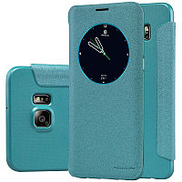 Чехол Nillkin Sparkle leather case для Samsung Galaxy S6 edge plus G928F (голубой)