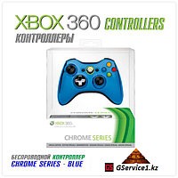 Controller Wireless Chrome Blue (Xbox 360)