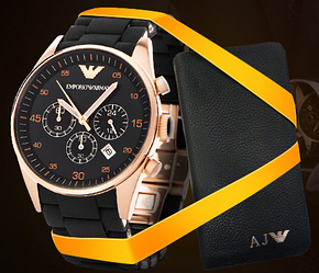 Часы Emporio Armani и портмоне Armani в подарок