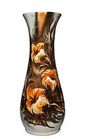 """Напольная ваза """"Осень"""" (белая, с большими цветами), 58 см"""