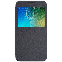 Чехол Nillkin Sparkle leather case для Samsung Galaxy E5 E500 (кожаный, черный)