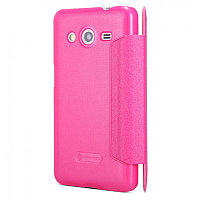 Чехол Nillkin Sparkle leather case для Samsung Galaxy Core 2 G355H (розовый, кожаный)