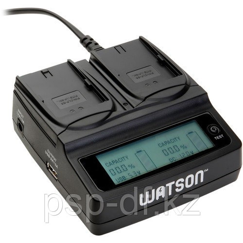 Watson Duo Battery Charger for Canon LP-e6 (на 2 батарейки)