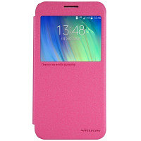 Чехол Nillkin Sparkle leather case для Samsung Galaxy E7 E700 (розовый)