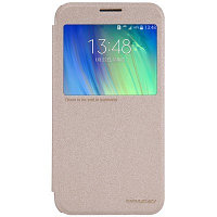 Чехол Nillkin Sparkle leather case для Samsung Galaxy E7 E700 (золотистый)