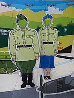 """Праздничная фото зона, пресс стена к 9 Мая в """"Мега Центр Алматы"""" 5"""