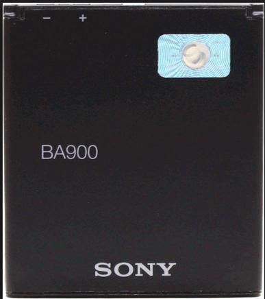 Заводской аккумулятор для Sony Xperia J ST26i (BA900,1750mAh)