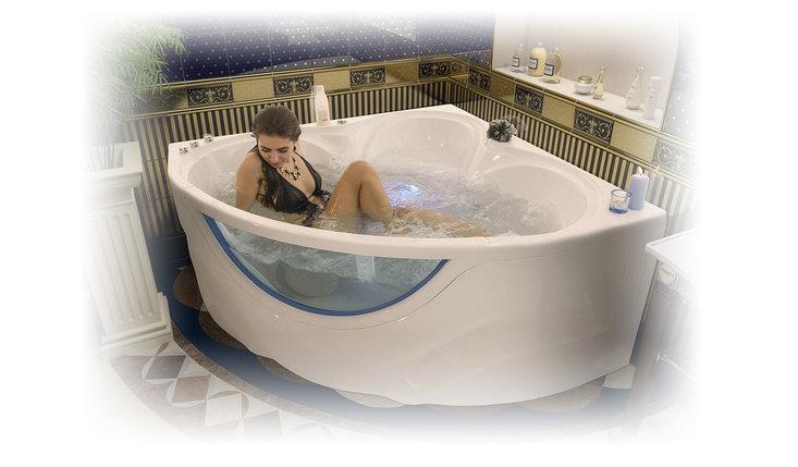 Акриловая ванна Виктория  (1500*1500*670) , фото 2