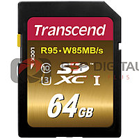 Transcend 64GB UHS-1 SDXC Memory Card 95 MB/s (Speed Class 3)
