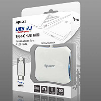 HUB USB 3.1 Type-C (for MacBook or any Type-C) to 4xUSB3.0 Apacer AP350, фото 1