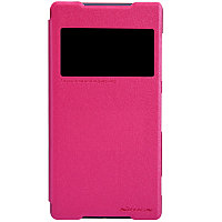 Чехол Nillkin Sparkle leather case для Sony Xperia Z2 (розовый)