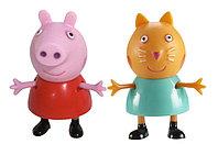 """Игровой набор """"Пеппа и Кенди"""" 5 см. (могут сидеть, стоять, двигать ручками и ножками)"""
