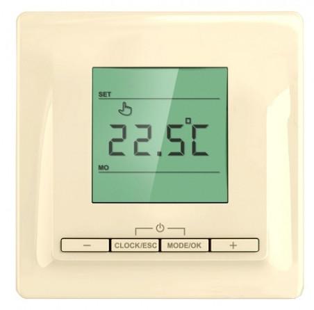 Терморегулятор ТР 520 кремовый (теплый пол, греющий кабель)