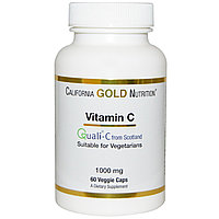 Витамин С, Quali-C, 1000 мг, 60 капсул, California Gold Nutrition