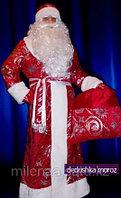 Шикарный празднично новогодний костюм деда мороза с узорами